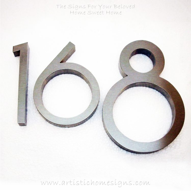 Weather Resistant House Numbers - Standard Font 05