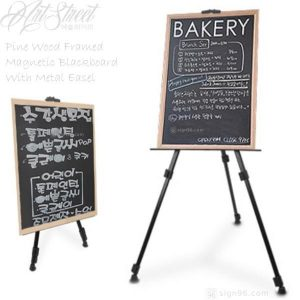 Magnetic Chalk Blackboard With Metal Easel