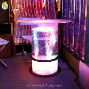 Acrylic Tube Bubble Column Custom Made Counter Table Desktop Display Made In Malaysia