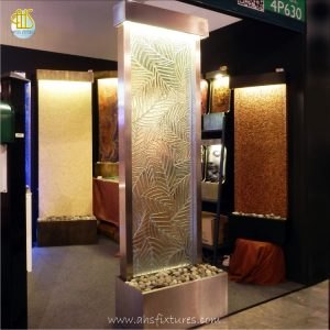 Artistic Fusion Kiln Formed Glass Feng Shui Divider Floor Fountain Made In Malaysia