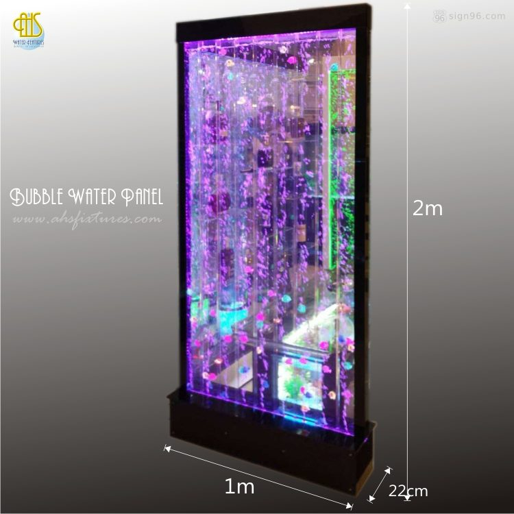 Black Frame Bubble Water Features Decorative Acrylic Display Partition
