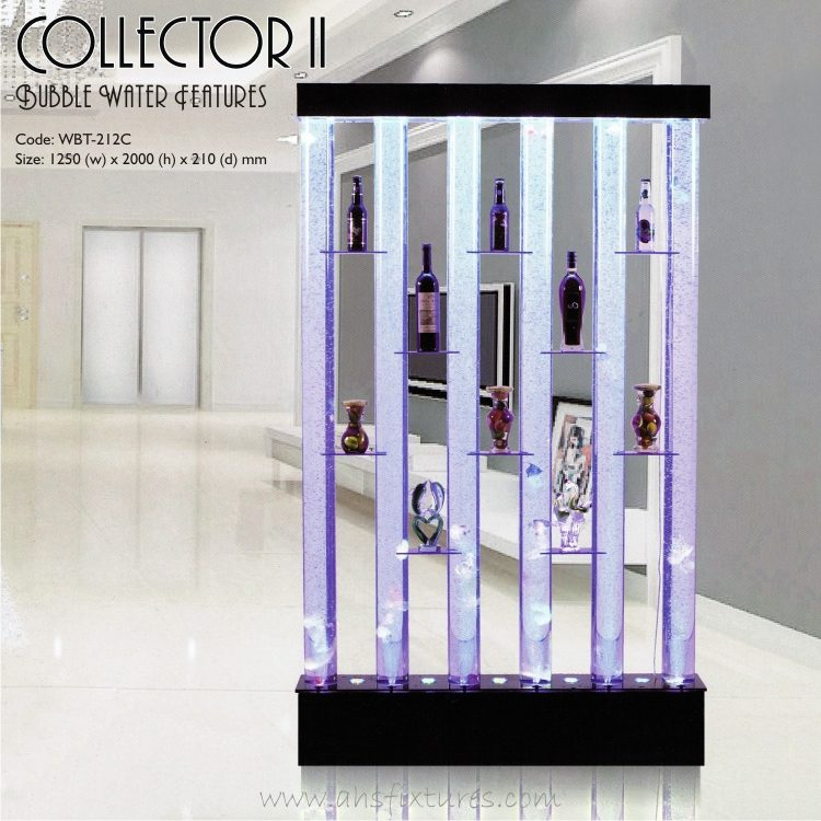 Collector II Shelves Bubble Water Features Decorative Acrylic Display Partition