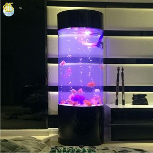 Cylinder Acrylic Column Fish Tower Tank Aquarium Made In Malaysia