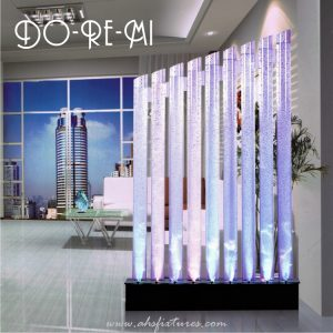 Do-Re-Mi Acrylic Tube Bubble Water Features Decorative Aquarium Acrylic Tube Display Partition Divider