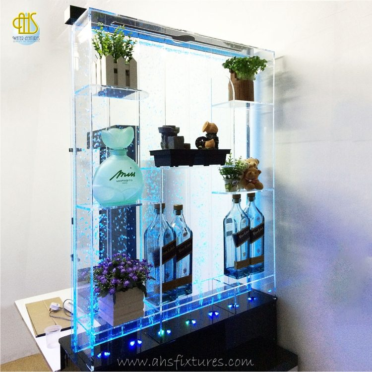Mini-Bar-Collector-Shelves-Bubble-Water-Features-Decorative-Acrylic-Display