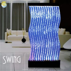 Swing Bubble Water Features Decorative Acrylic Display Partition Divider