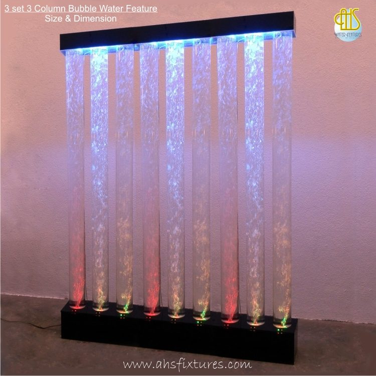 Three Columns Acrylic Bubble Water Features [WBT-245x3]