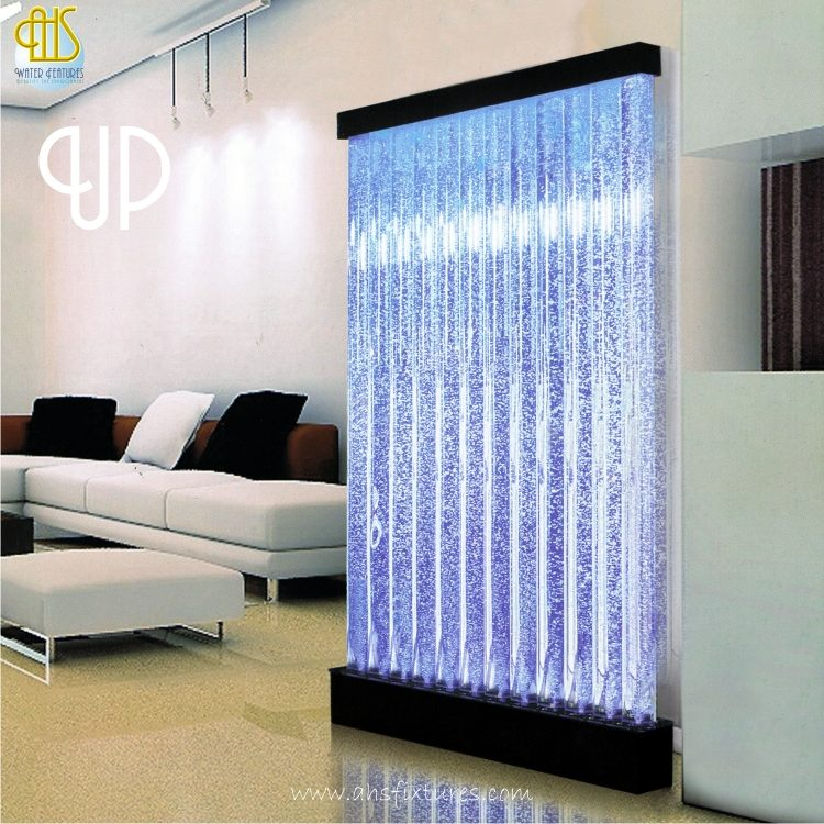 Up Bubble Water Features Decorative Acrylic Tube Display Partition Divider