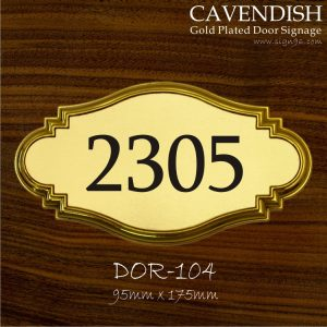 Cavendish Gold Plated Door Signage - DOR-104 Made In Malaysia