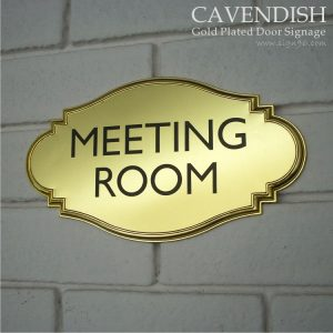 Cavendish Gold Plated Door Signage - DOR-122