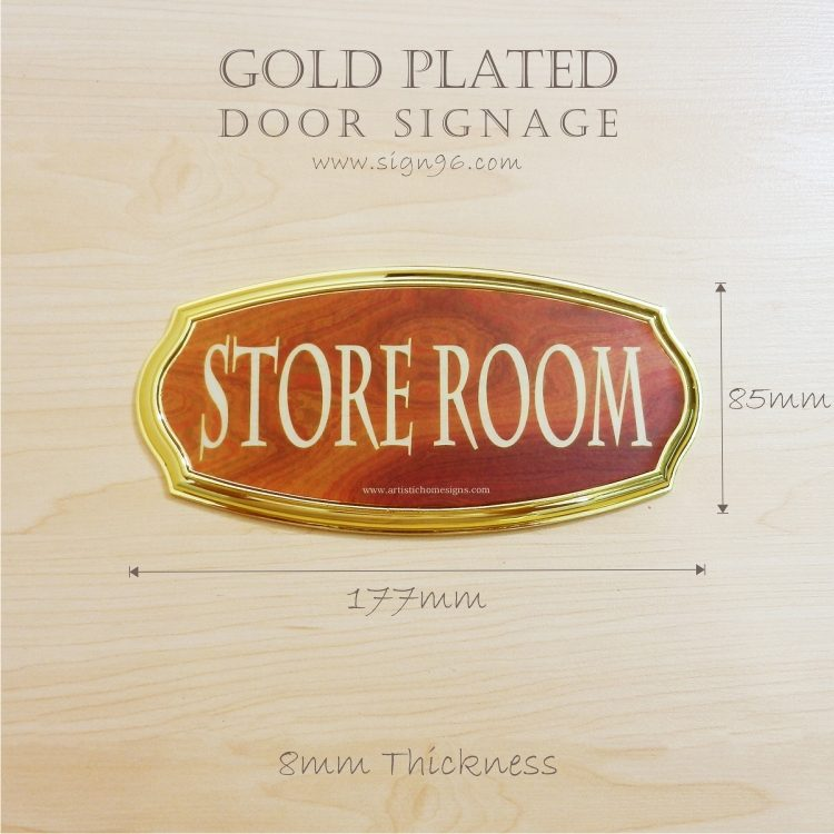 Gold Plated Door Signage- Ladies & Gentlemen Restroom Washroom Toilet Door Signage Made in Malaysia