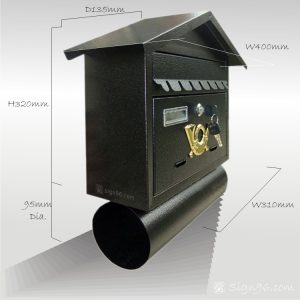 MLB-501 Cottage Letter Box Mailbox 02
