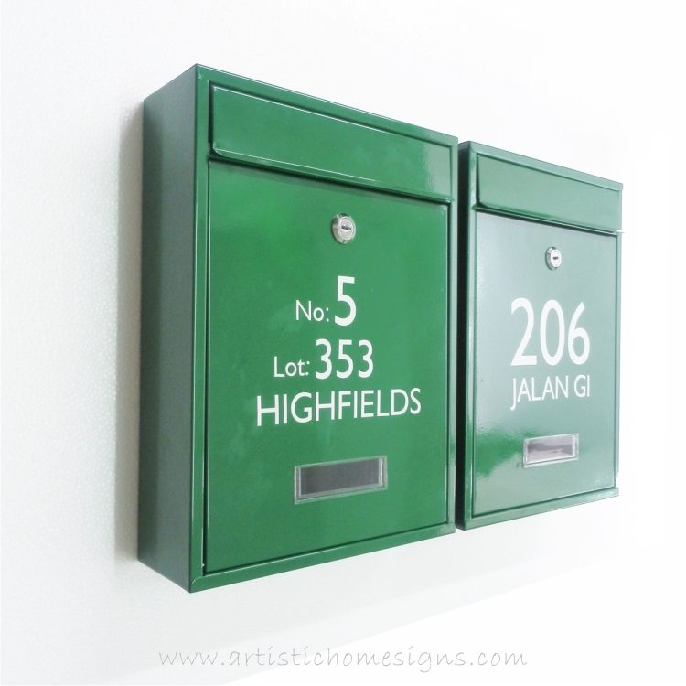 MLB-506 Tenuous Basic Powder Coated Metal Mailbox 04