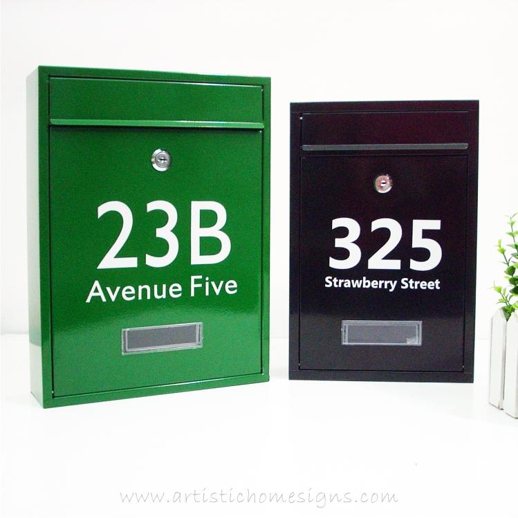 MLB-506 Tenuous Basic Powder Coated Metal Mailbox 08