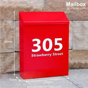 MLB-507 Red Mailbox