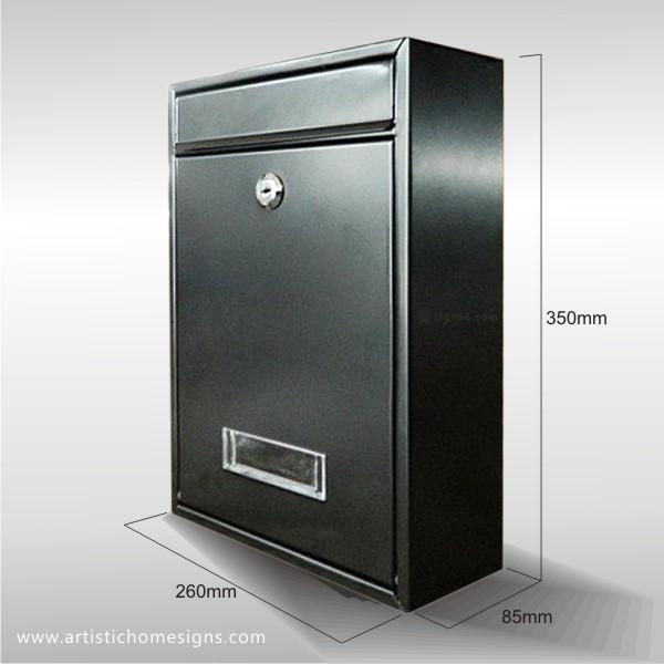 MLB-506 Black Mailbox