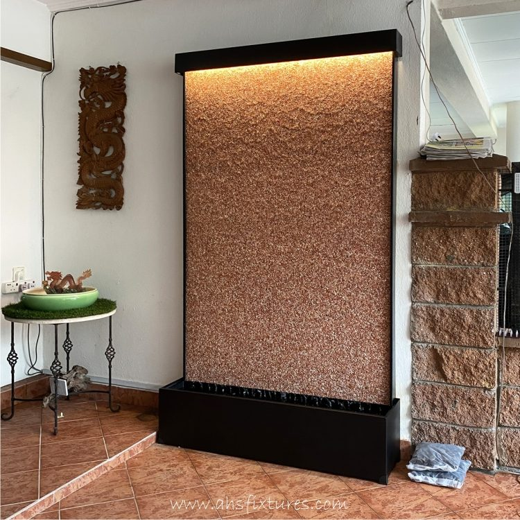 Natural Pebble Water Wall Feature WWP-122 Made In Malaysia