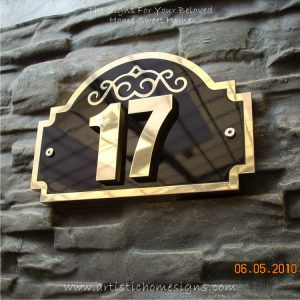 3D Brass Number On Brass Etching Sign Plaque Made In Malaysia