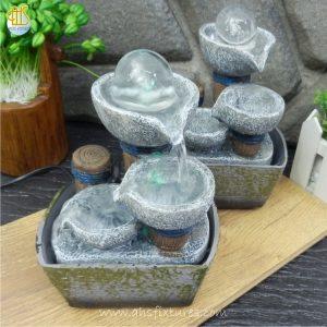 Lucky Fortune Crystal Ball Tabletop Desktop Fountain WTT-116