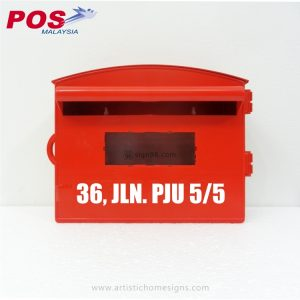 Malaysia-Post-Box-Mailbox-Horizontal-Plastic-Letterbox-With-3M-Reflective-Sticker-Address-Sign-MLB-405