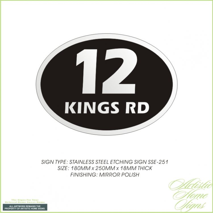 Stainless Steel Etching House Number Address Sign Made In Malaysia