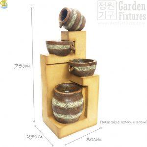 WGT-111 Rustic Bowl n Jar Size 75cm Height
