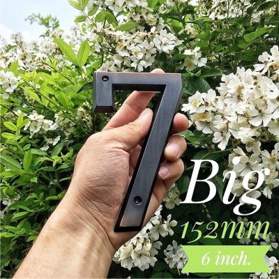 Cast Alloy Zinc Big House Number With Aged Bronze Finishing LTR-505-AB MALAYSIA HOUSE NUMBER ADDRESS PLAQUE DIY LETTERING