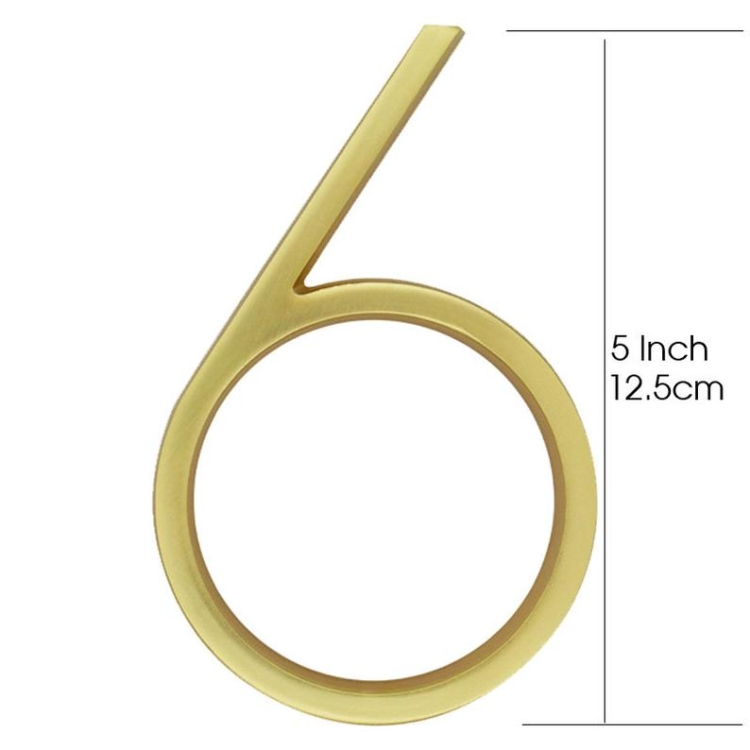 Cast Alloy Zinc Modern House Address Number With Gold-Brass Finishing LTR-501-GB Artistic Home Signs Homedec KLCC Malaysia