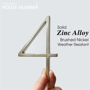Cast Alloy Zinc Modern House Address Number With Silver Polish Finishing LTR-501-SP Artistic Home Signs Homedec KLCC Malaysia