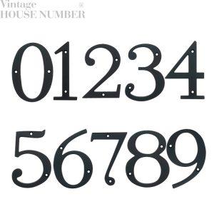 Cast Alloy Zinc Vintage House Address Number Black With Copper Polish Finishing Malaysia Home Signage Decor