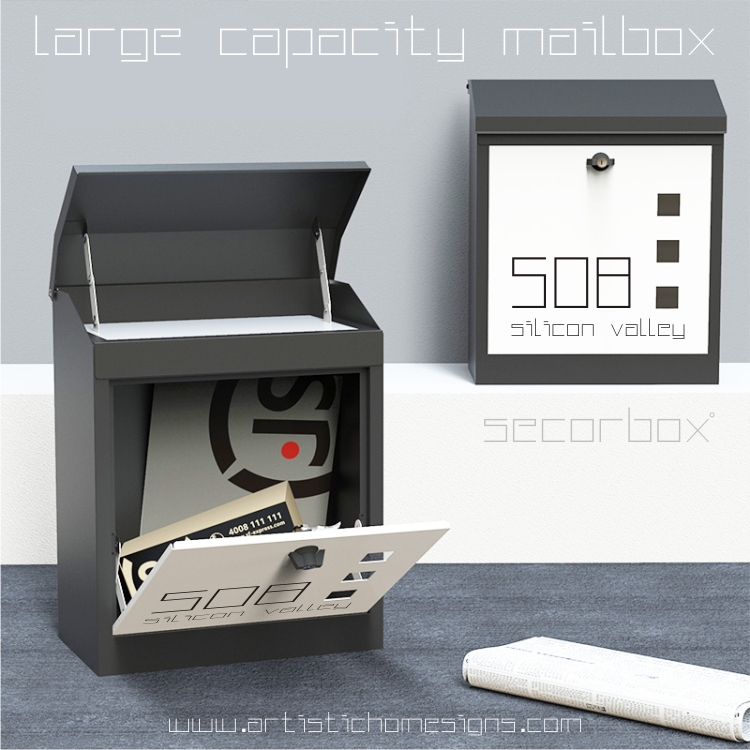 Secorbox Large Capacity Parcel Drop Mailbox MLB-508 Custom Made Address Number Signs In Malaysia