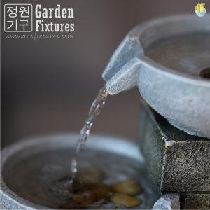 Small Villa Castle Cascading Three Bowl Garden Fountain Malaysia