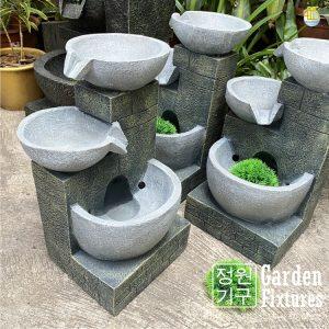 Small Villa Castle Cascading Three Bowl Garden Fountain WTT-102 Malaysia AHS Fixtures Home Decor