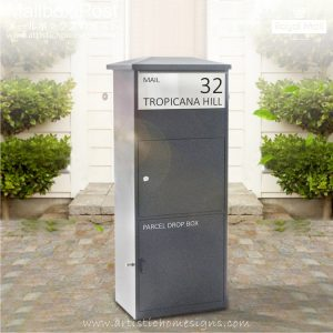 Stanford Parcel Mailbox Modern Contemporary Wiht Personalized Address Numbers Malaysia Home Decor