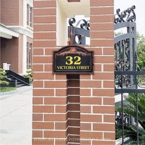 Victoria Lace Sign House Number Address Plaque LAC-101 Personalize Made In Malaysia
