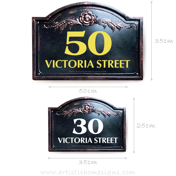 Victoria Lace Sign House Number Address Plaque LAC-101 Size & Dimension Custom made in Malaysia