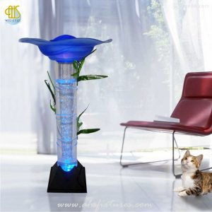 Anion Humidifier Fragrance Aroma Mist Maker Bubble Water Features Acrylic Tube Column LED Lamp WBT-873 Home Decoration Malaysia