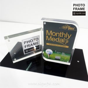 Magnetic Desktop Photo Frame for Wedding, Graduation, Birthday, Decoration, Baby shower. Personalized Acrylic Picture Frame Made In Malaysia